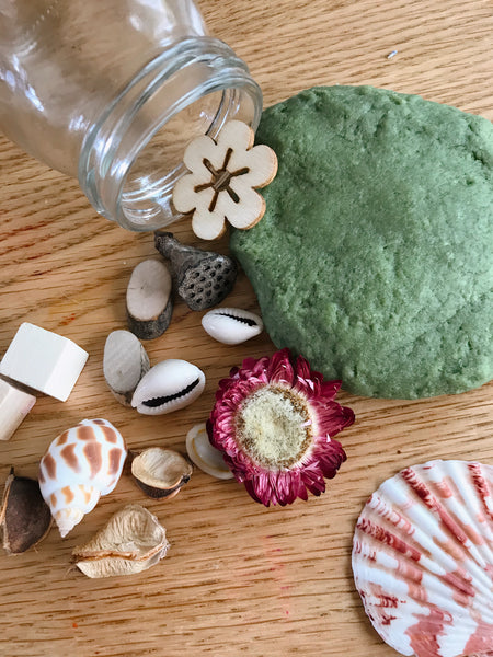 ❁ Natural playdough sensory kit | moss