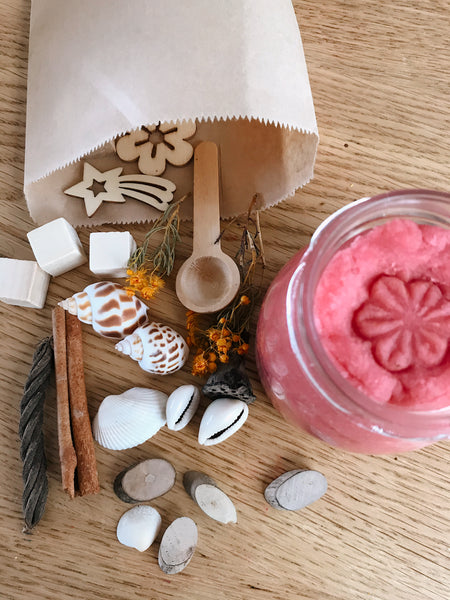 ❁ natural playdough sensory kit | rose