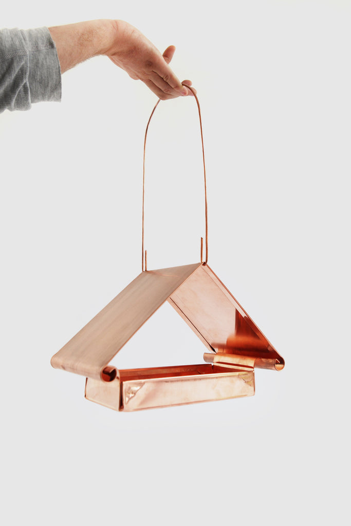 Pediment Bird Feeder