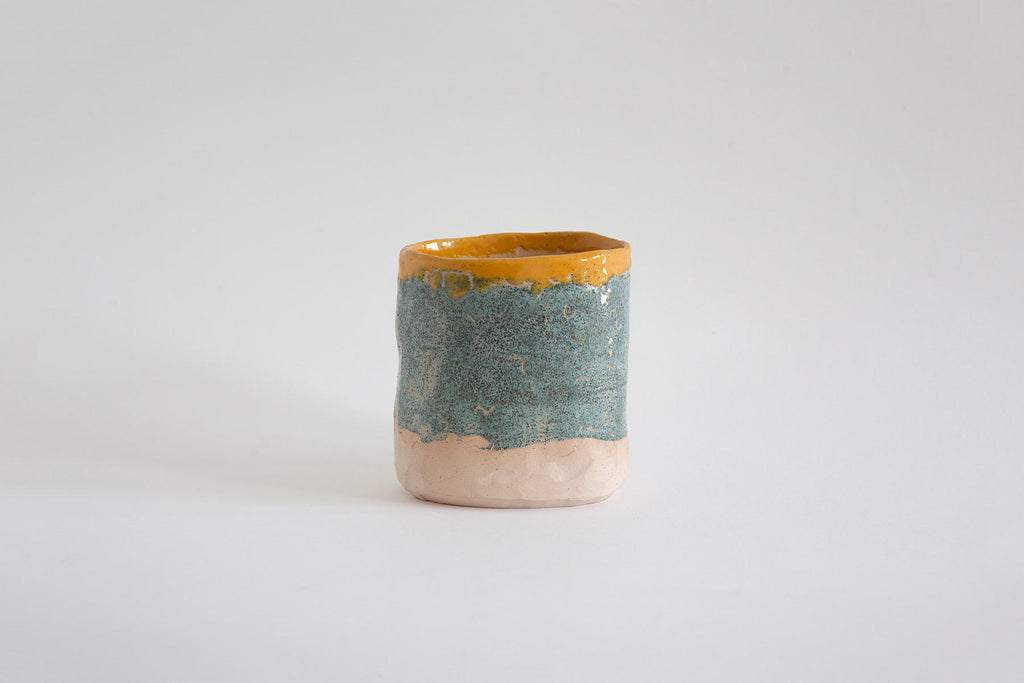 SRP Planter in Blue/Yellow