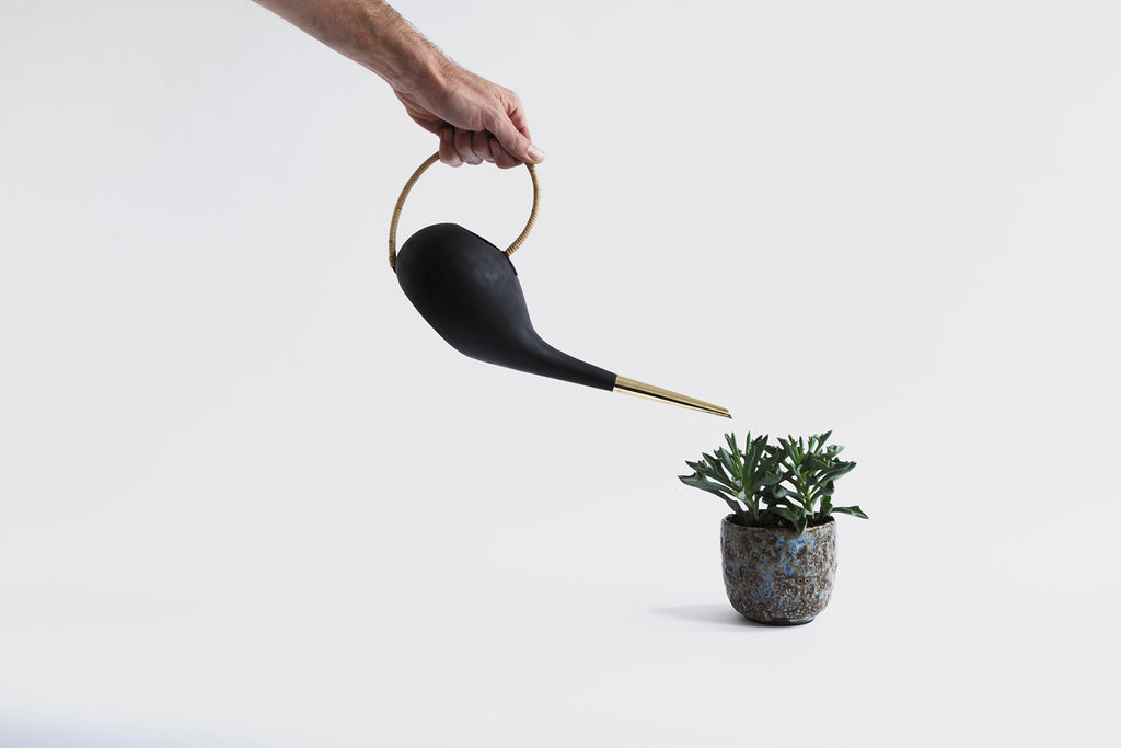 Brass & Cane Watering Can