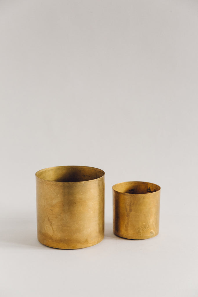 Small Raw Brass Planter