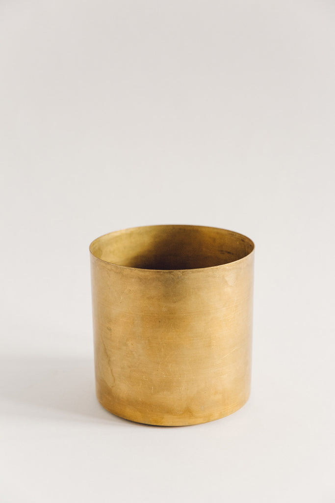 Large Raw Brass Planter