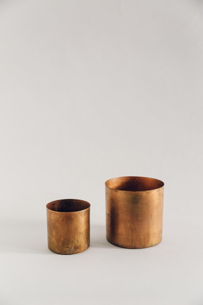 Large Raw Copper Planter