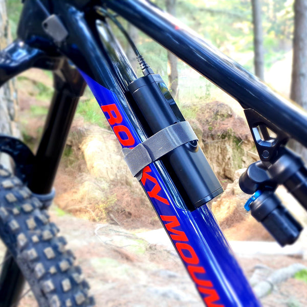 Gloworm Battery Attached to Rocky Mountain Frame