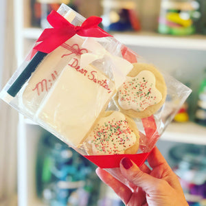 GLUTEN-FREE single Dear Santa cookie - pen not included