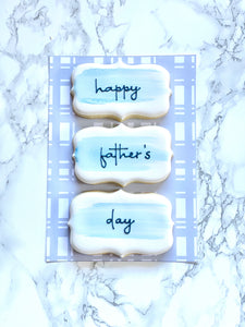 Happy Father's Day cookie set
