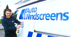 Auto Windscreens driver using Eco Touch on van