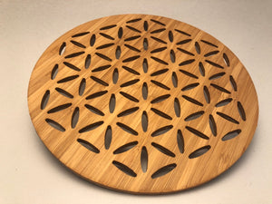 Flower of Life Bamboo Trivet
