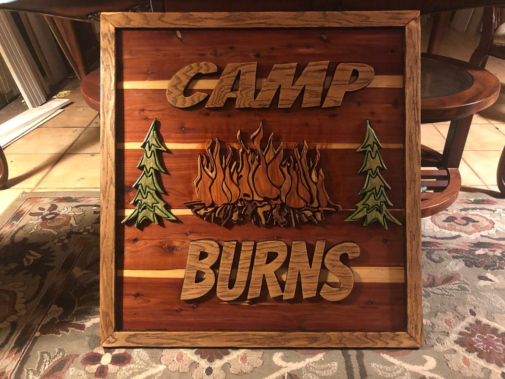 "34""x34"" Personalized 3D Wood Sign"