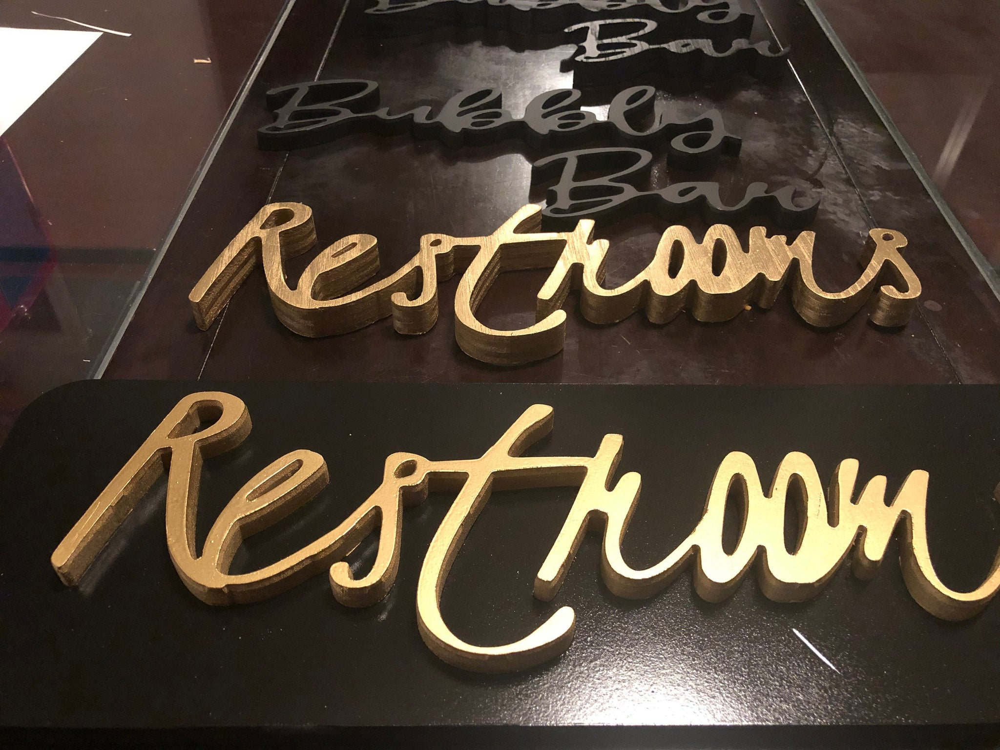 Custom Wood Script Lettering/Signs Finished/Painted