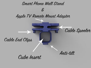 3D STL Printable iPhone Wall Stand Model Fits Cube Charger, Instant File Download, .stl