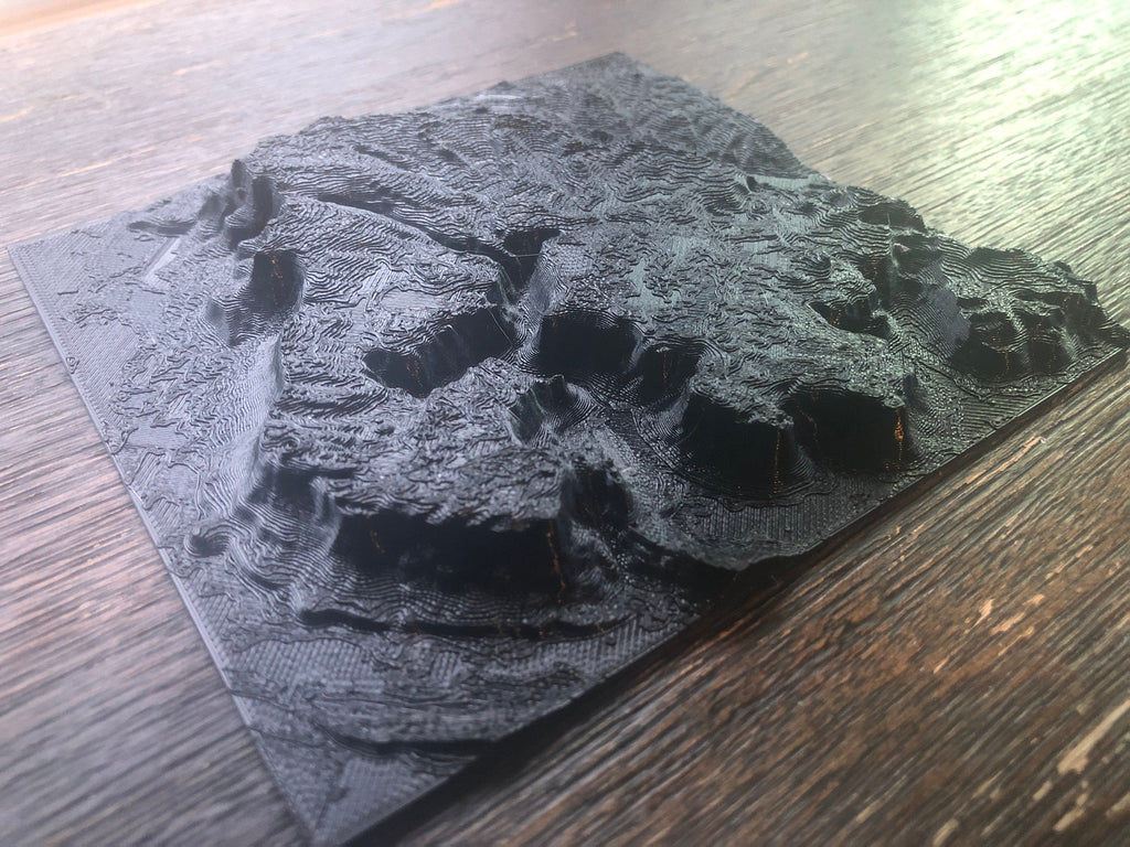 3D Printed Maps of Anywhere in the World
