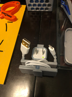 3D Printed Apple USB Cube Phone Charger Cable Organizer