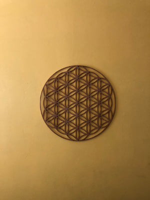 "Flower of Life Large Bamboo Wall Decor 23""x23"" inches"