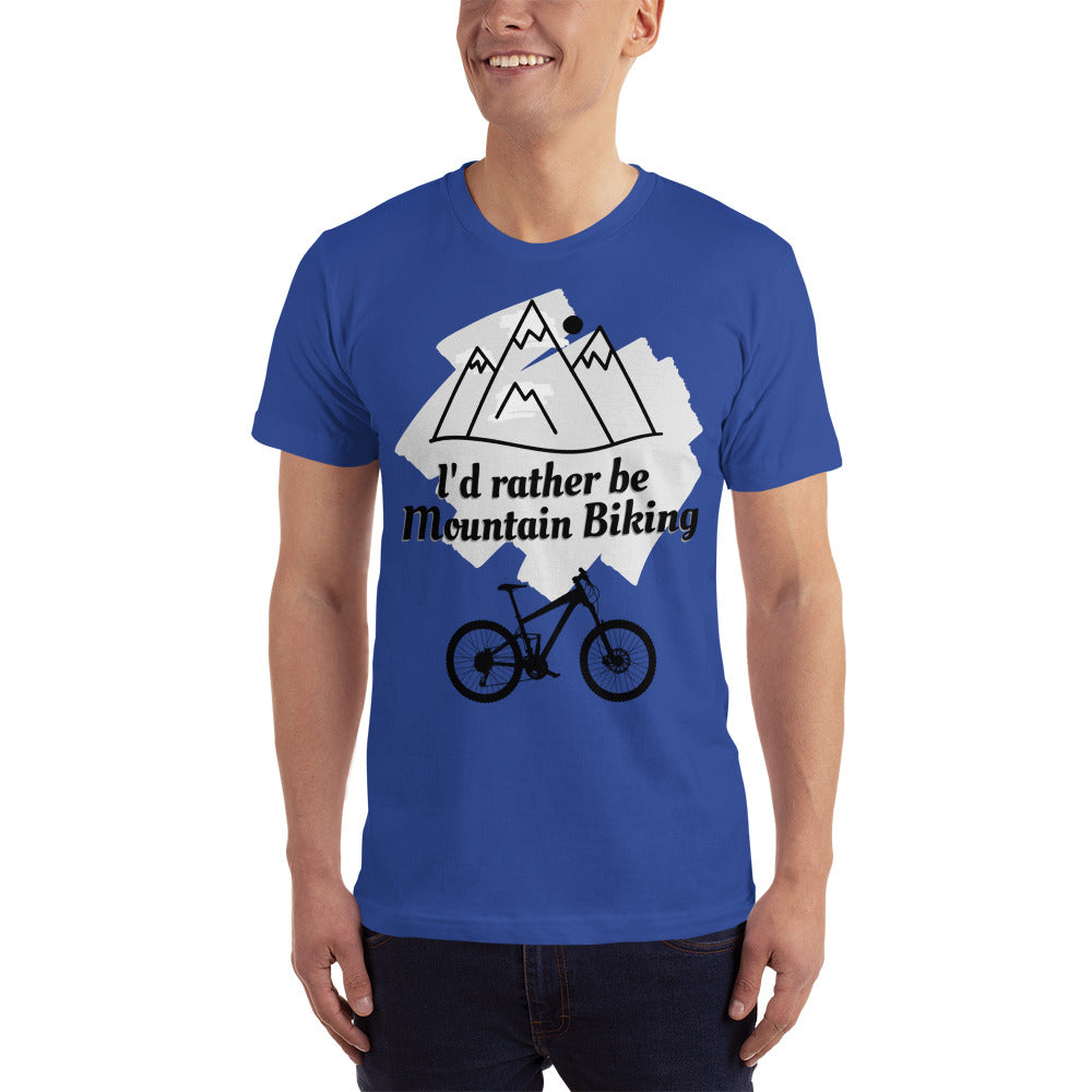 MTB T-Shirt - I'd Rather be Mountain Biking