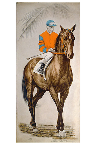1956 Portrait of a man and a horse