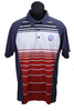 Men's Striped USSA Polo