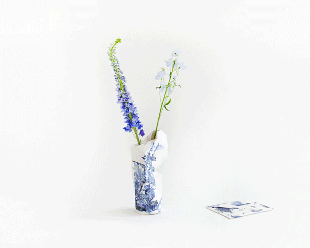 Delft Blue Vase cover - Archer + Co