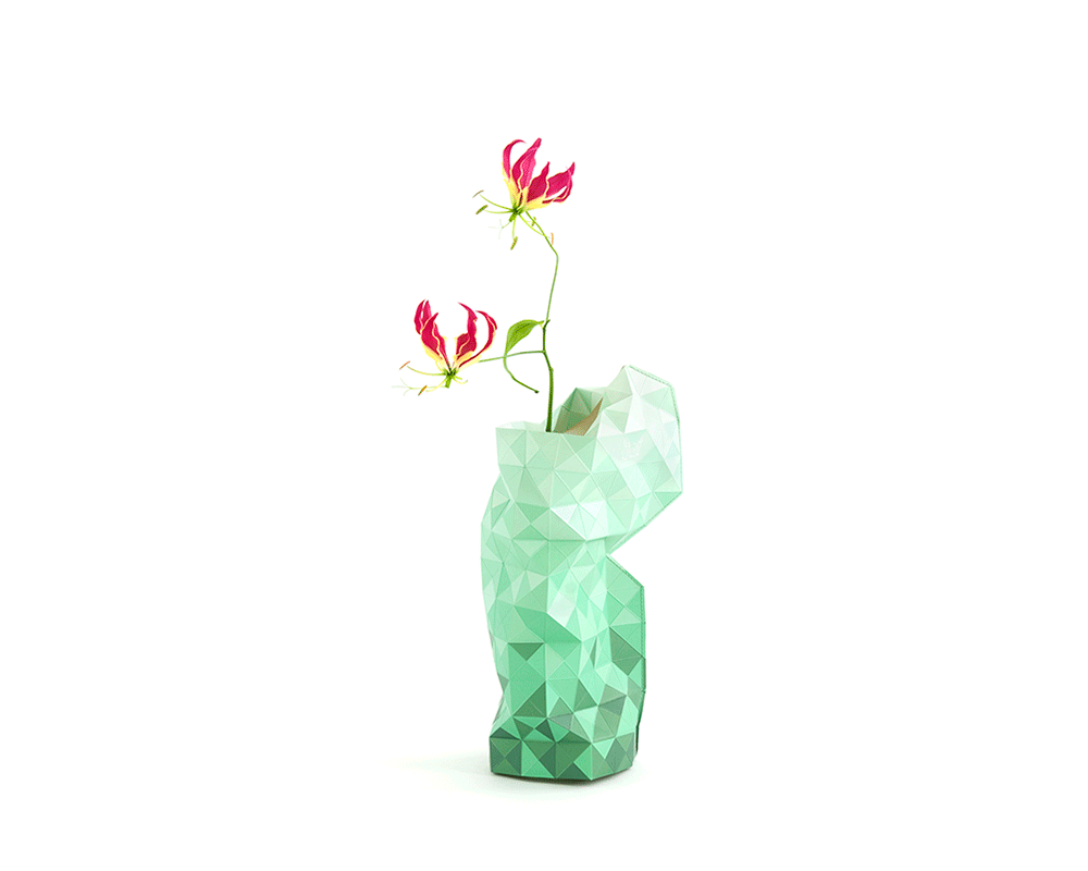 Paper Vase Cover - green - Archer + Co