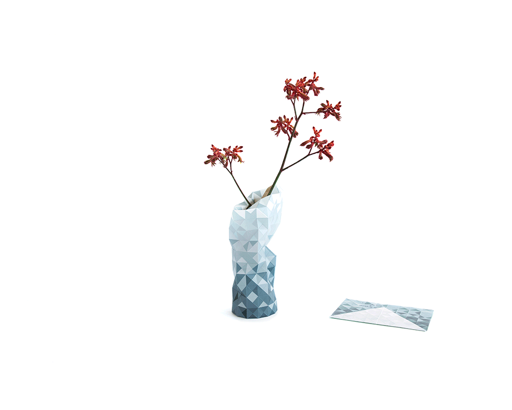 Paper Vase Cover - grey - Archer + Co