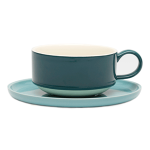 Jansen + Co Loop Tea Cup and Saucer - Archer + Co