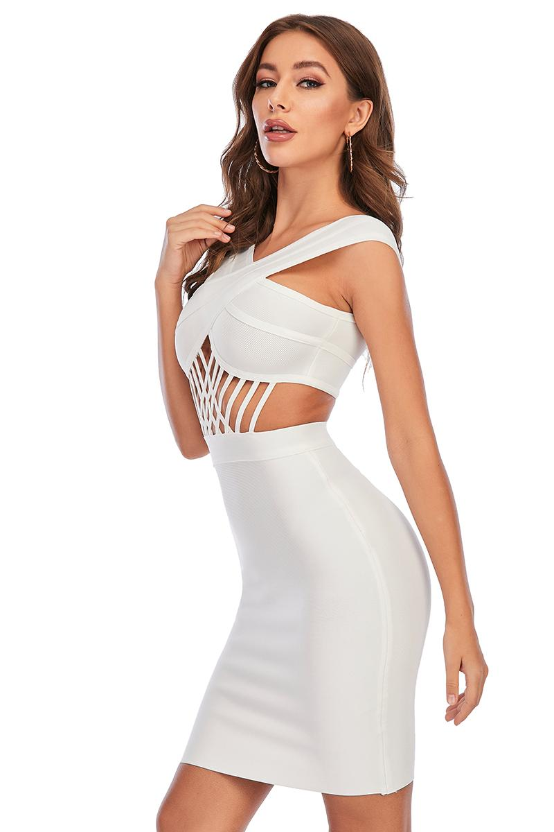 Cross Halter Hollow Bandage Dress