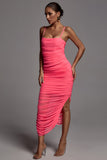 Paige Runched Mesh Maxi Dress