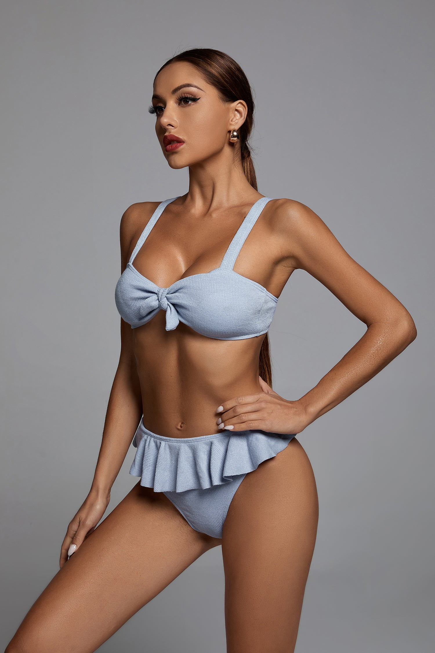 Knitted Ruffled Bikini