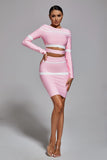 Blakely Bandage Two Piece Set - Pink
