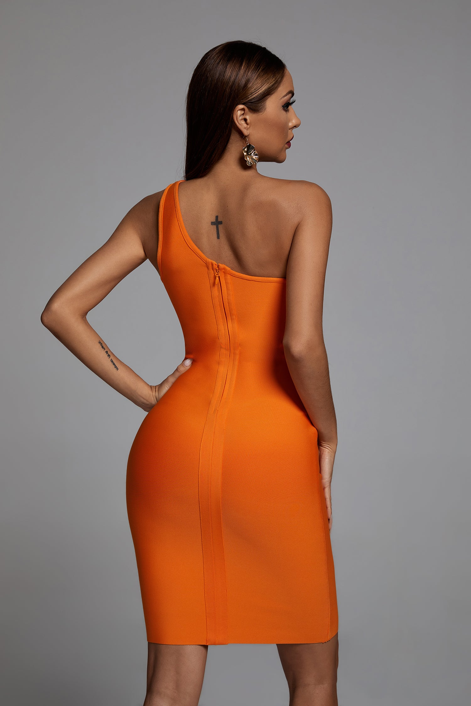Cacai One Shoulder Mini Bandage Dress