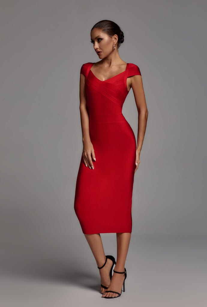 Candance Midi Bandage Dress -- Bellabarnett