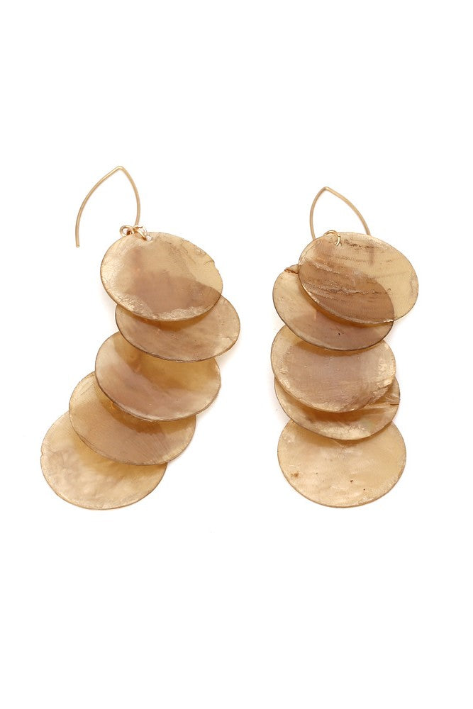 Circle Shell Earrings -- Bellabarnett