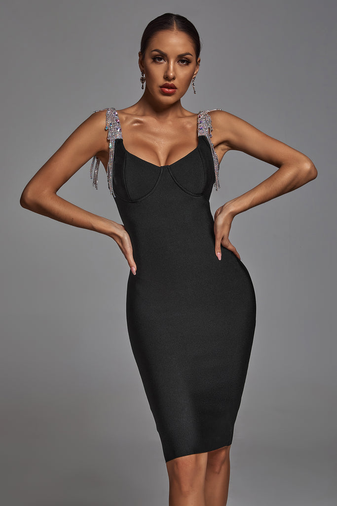 Fantasya Bandage Dress -Black- Bellabarnett