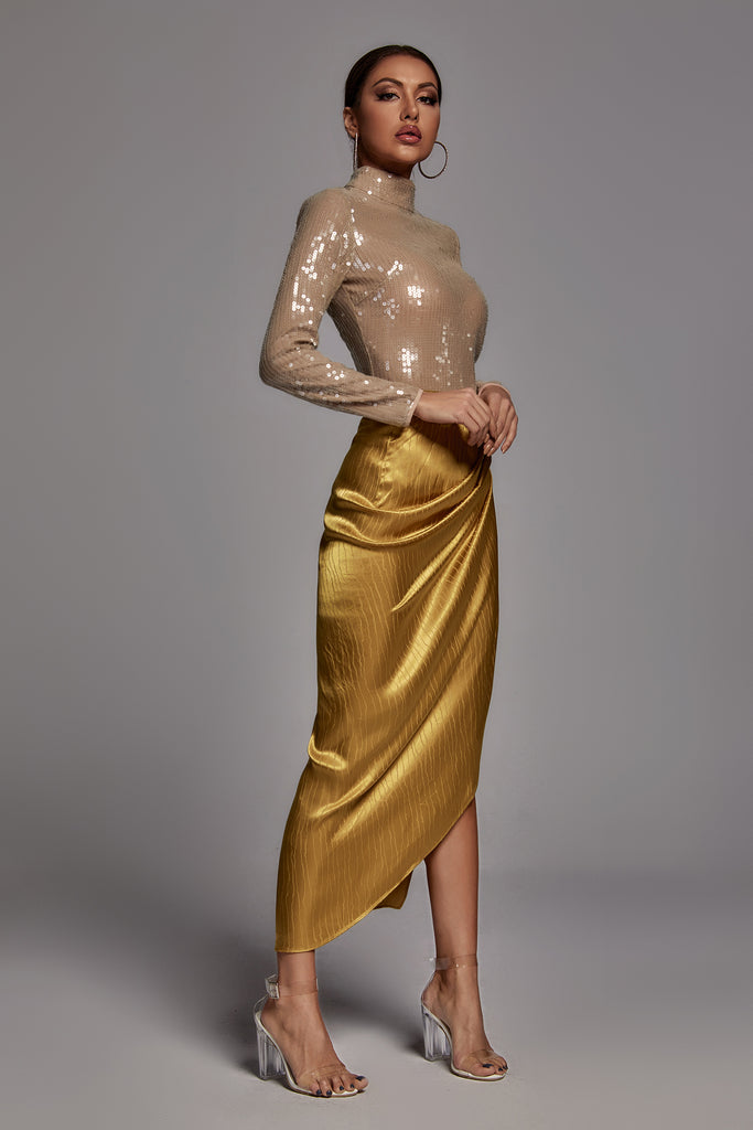 Jubilee Golden Wrap Skirt -- Bellabarnett