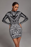 Khalid Long Sleeve Bandage Dress -- Bellabarnett