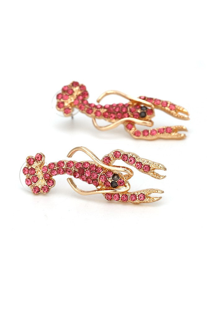 Lobster Earrings -- Bellabarnett