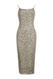 Lucille Bodycon Sequin Dress -Gold- Bellabarnett