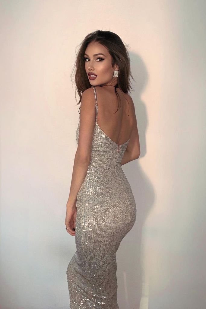 Lucille Bodycon Sequin Dress -- Bellabarnett
