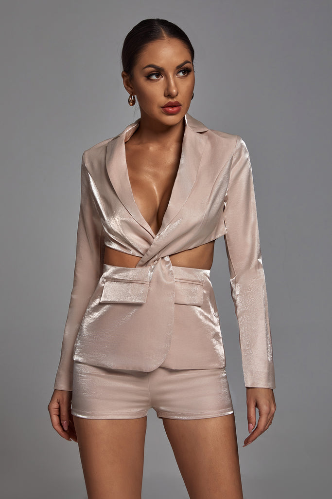 Maisie Twisted Blazer Set -- Bellabarnett