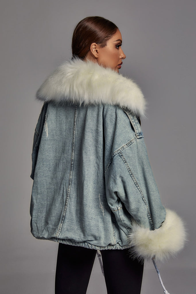 Mikko Denim Jacket - White -- Bellabarnett