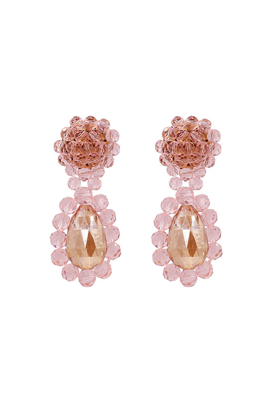 Pink Crystal Earrings -- Bellabarnett
