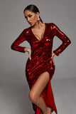 Zuly Sequin Midi Dress In Red -- Bellabarnett