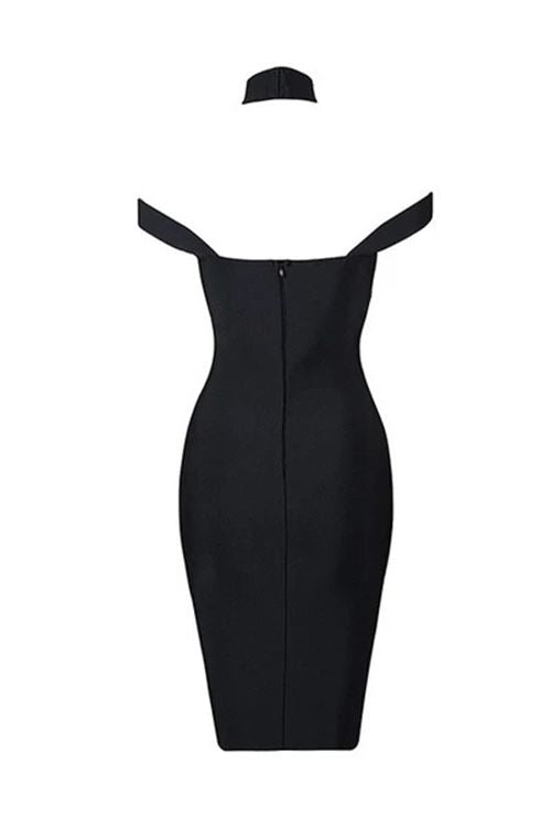 Kyler Cut Out Bandage Dress - Black -- Bellabarnett
