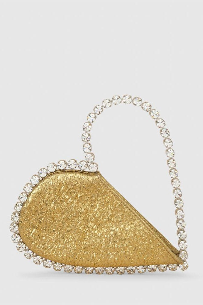 Love Stone-encrusted Metallic Clutch -- Bellabarnett