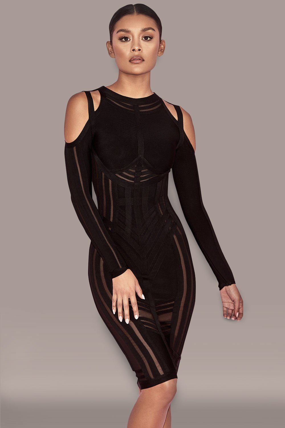 Marlene Dress-Black -- Bellabarnett