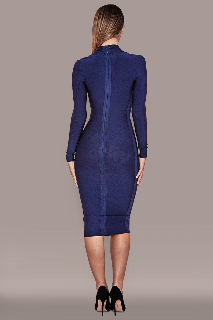 Persephone Bandage Dress - Navy -- Bellabarnett