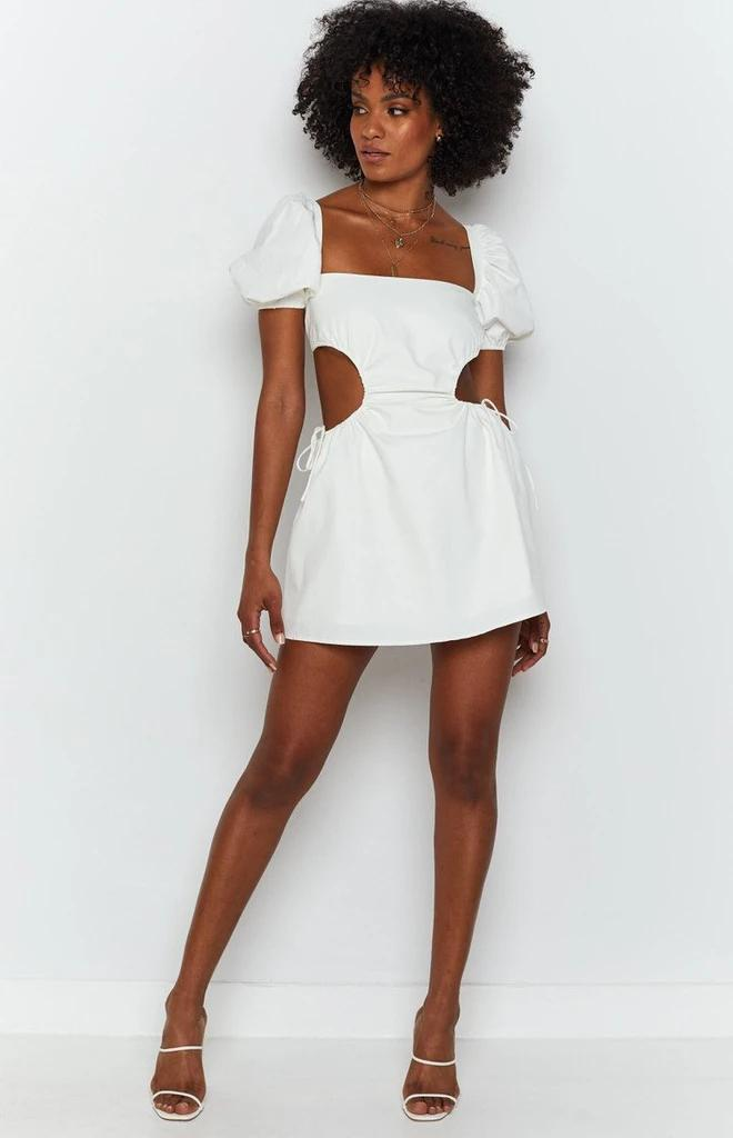 Doris Backless lace-up Mini Dress -- Bellabarnett