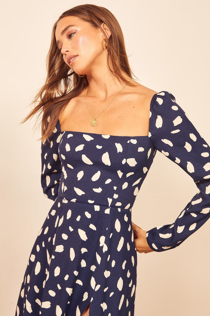 Winifred Polka Midi Dress -- Bellabarnett