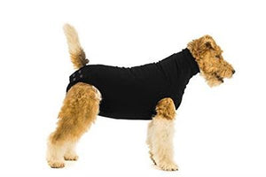 Suitical Recovery Suit for Dog- Post-Surgical Recovery-Apparel-Suitical-XXX-Small-Black-The Classic Pooch